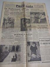 Aug 4 1939 OLD FRENCH NEWSPAPER PARIS SOIR Hitler Chamberlain II world war