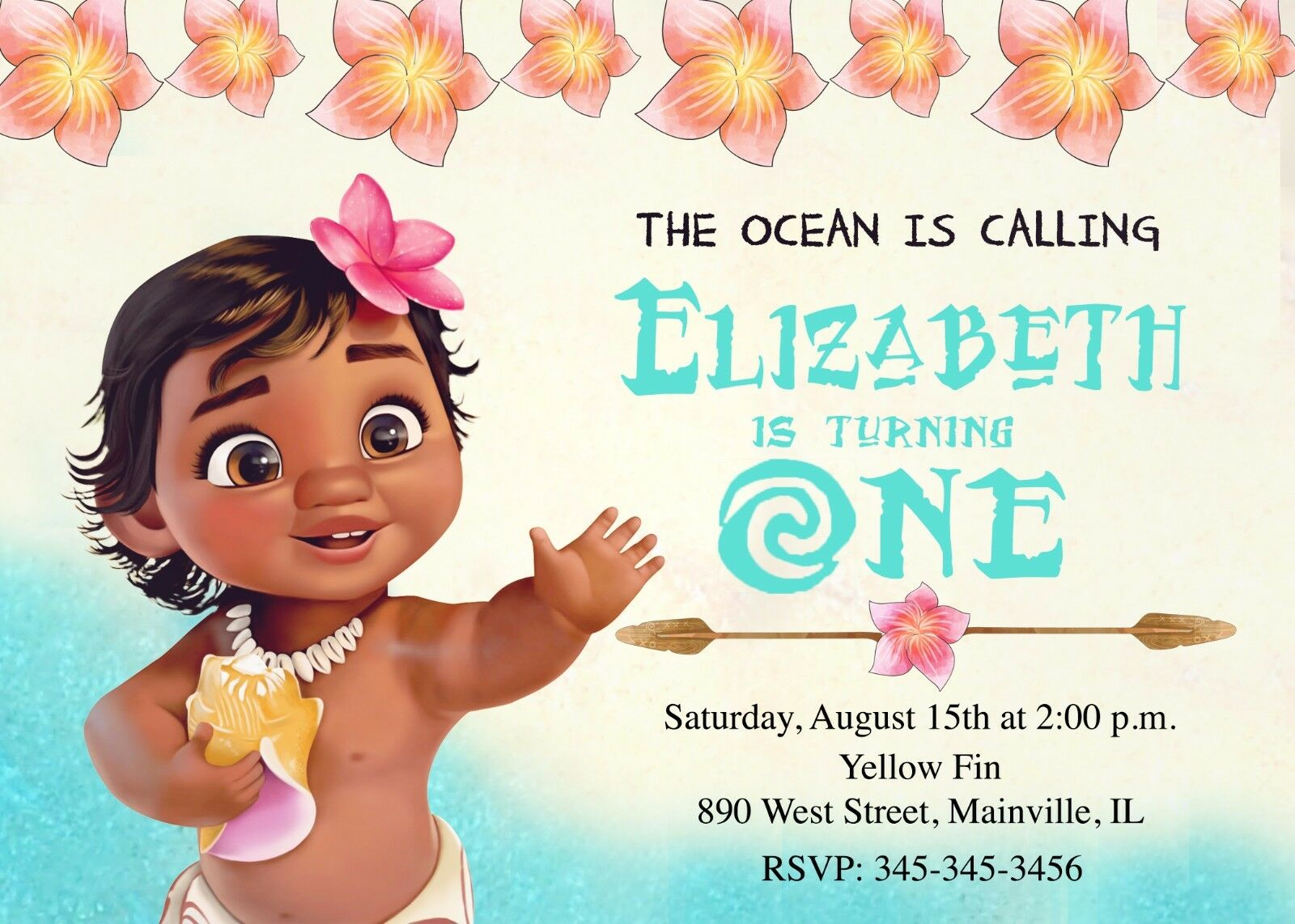 Moana Baby First Birthday Party One Year Birthday Party Birthday