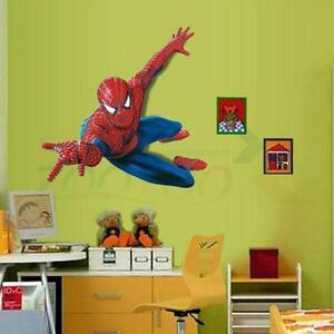 Spiderman Removable Wall Decals Sticker Vinyl Mural Room Decor UK - Spiderman wall decals uk