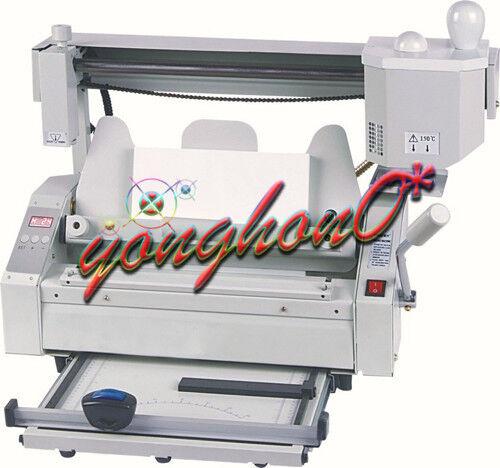 Binding Binder Machine Manual Numerical Control Hot Glue Book 220V