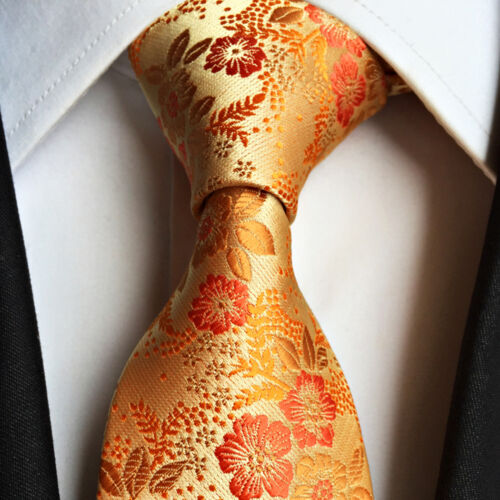Wedding Men/'s Paisley Silk Tie Fashion Classic Floral Jacquard Woven New Necktie