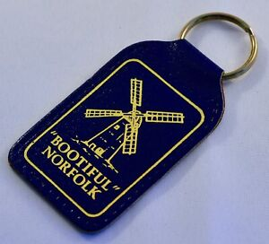 Bootiful Norfolk Leather Keyring/Keyfob - Retro Souvenir - UK - Windmill Broads