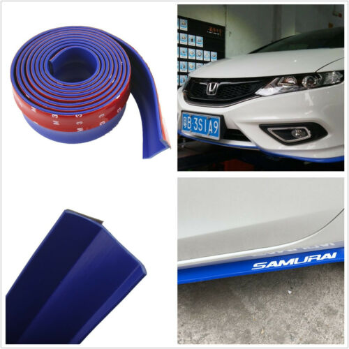 2.5M Car Front Bumper Lip Splitter Valance Spoiler Body Rubber Protector Blue
