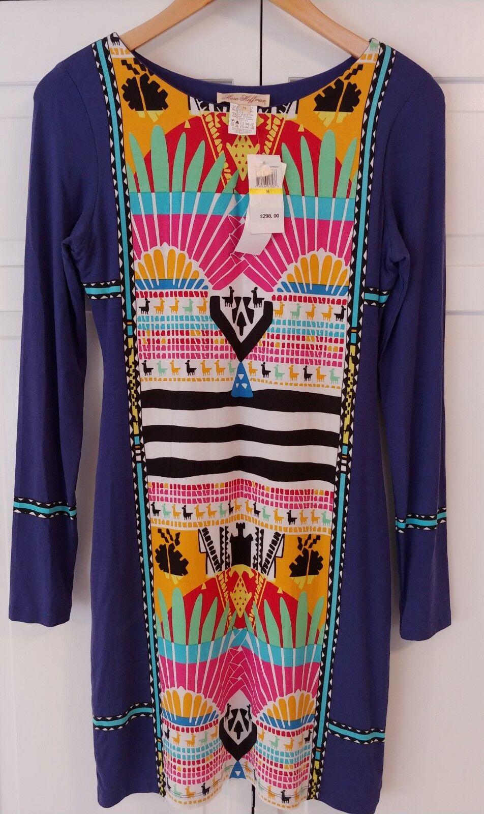 MARA HOFFMAN Sunrise Aztec Print Llama Body con Dress Size Medium NWT  298