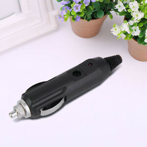 1Pcs-12V-Male-Car-Cigarette-Lighter-Socket-Plug-Connector-Red-LED
