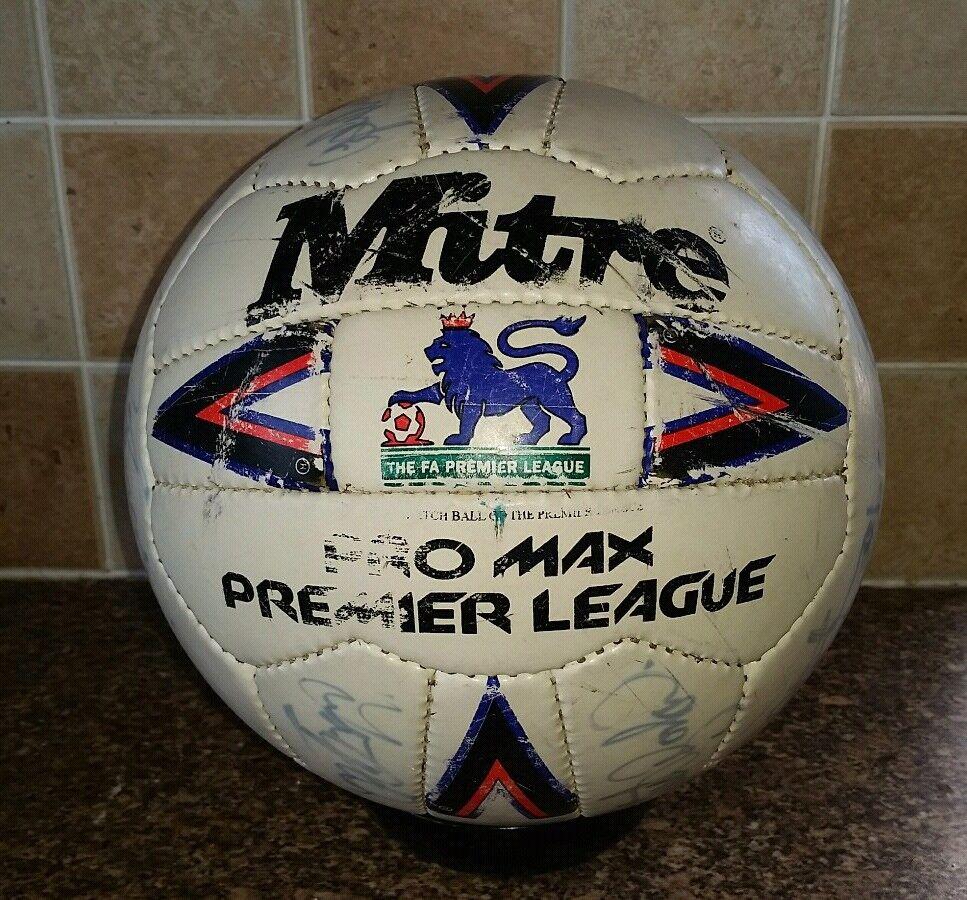1992 93 Mitre Premier League MATCH MATCH MATCH PALLA utilizzata PRO MAX Everdeon V Oldham Athletic 662bc5