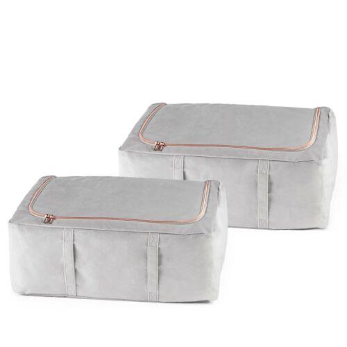 Beautify Set of 2 Underbed Storage BoxesGrey Velvet /& Rose Gold