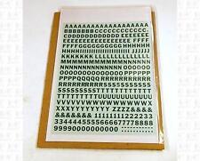 Virnex HO Decals Emerald Green 1/4 Inches Bold Gothic Letter Set 2048 Alphabet
