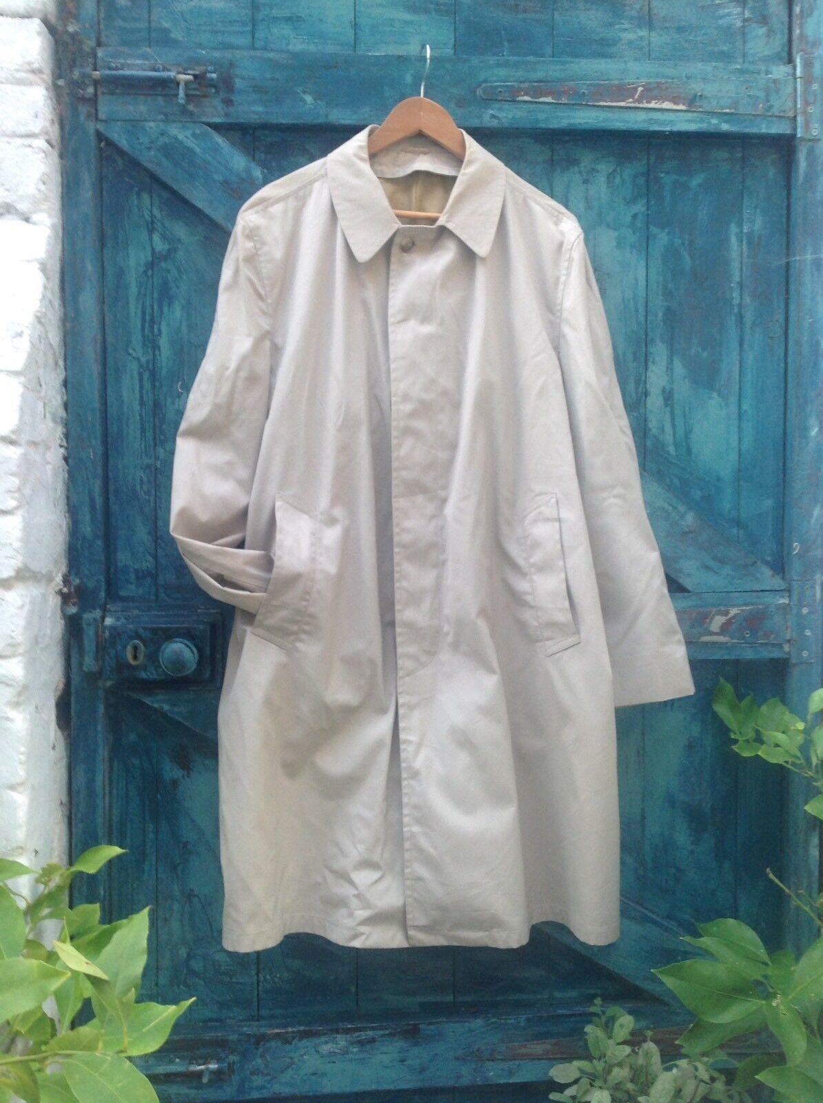 Raincoat Größe XL  Herren Beige Mac Trench Vintage BEST SEASON MATE USA Unique Vgc