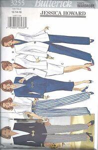 Butterick Sewing Pattern # 3255 Misses Jacket Blouse Skirt Pants Size 12-14-16