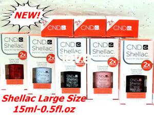 NEW Size! GelColor CND Large Shellac Gel Polish 15ml-0.5fl.oz /Choose Any Color
