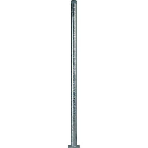 Rohrpfosten mit Bodenplatte zum Aufschrauben  Stahl Ø 60mm Länge 1000mm 2mm
