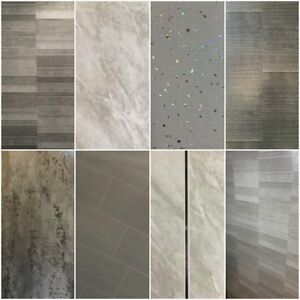 Grey Panels, Tile Effect Cladding, Sparkle Bathroom Shower Wall Panels PVC  | eBay