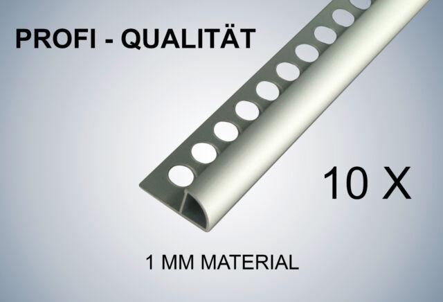 250cm//8mm Edelstahl gebürstet Fliesenschienen-Set Viertelkreisprofil