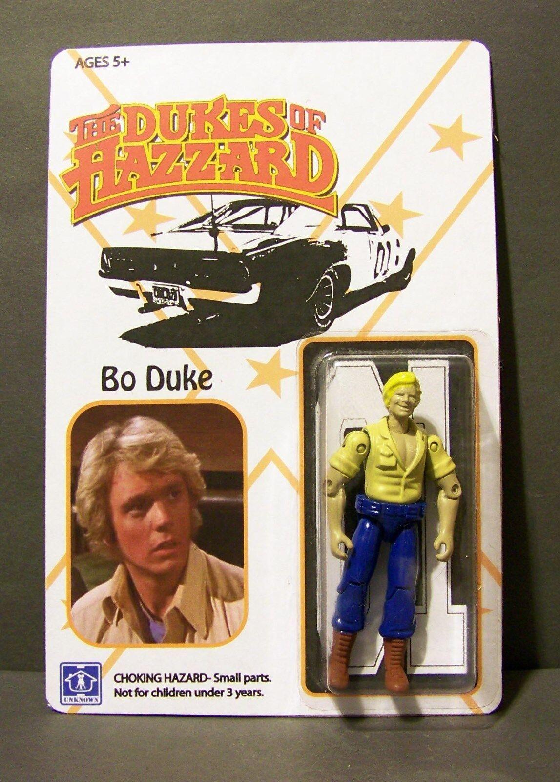 Personalizado De 3 3 4 figuras de empaquetado.. Dukes of Hazzard Bo y Luke Mego-Estilo