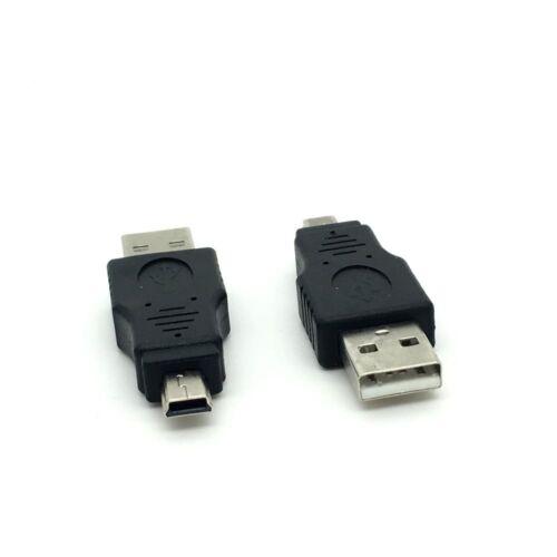 New USB 2.0 Male to Mini USB Male Plug Adapter Converter data M//M