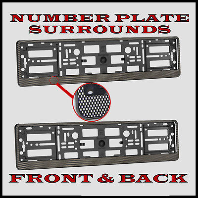 """Single BMW Motorsport Number Plate Surround -/"""" NOUVEAU"""