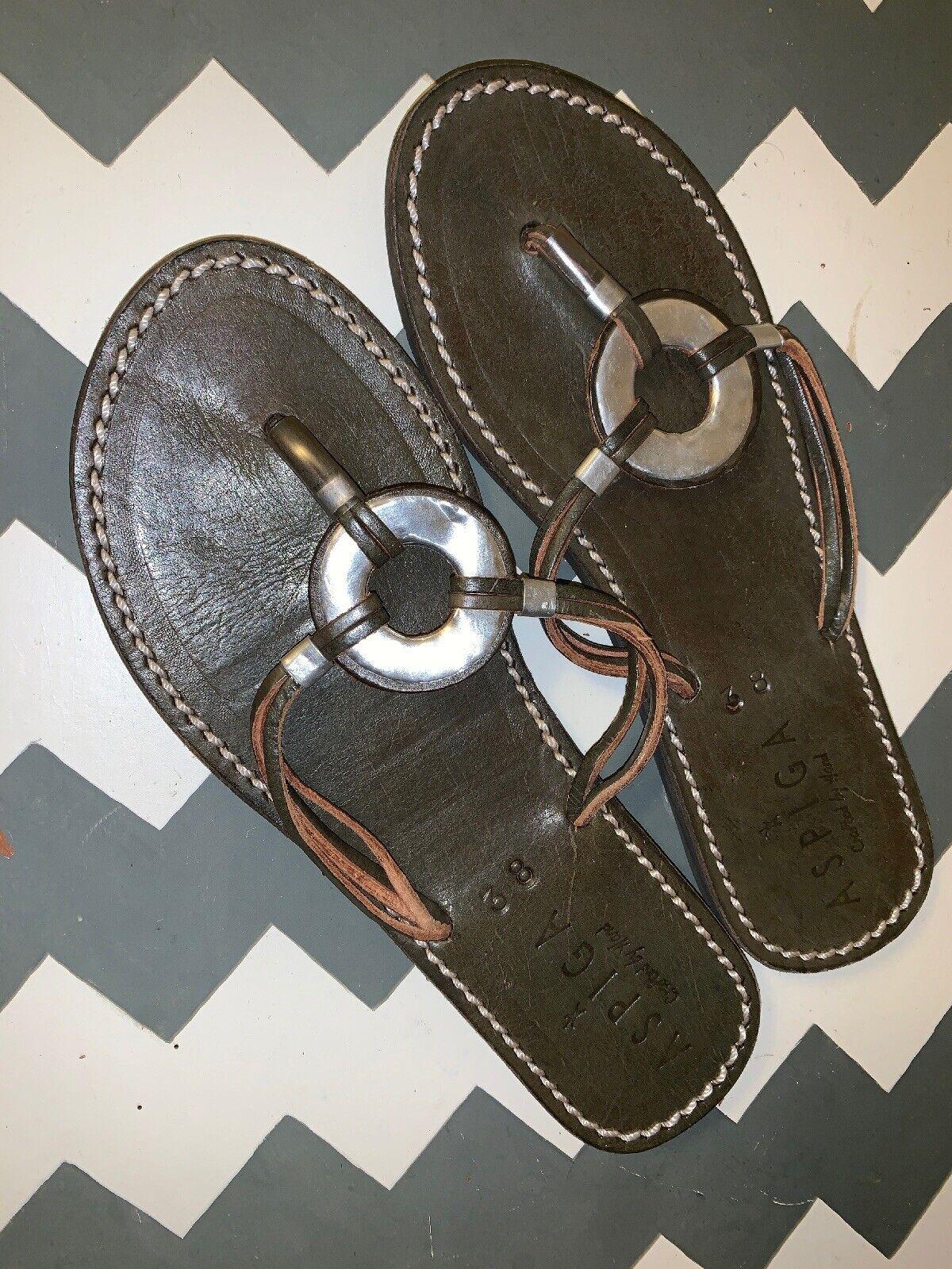 Aspiga Kalifi Aluminium Découpe Cercle Sandales Lanières Femmes Chaussures SZ 38 7.5  b12