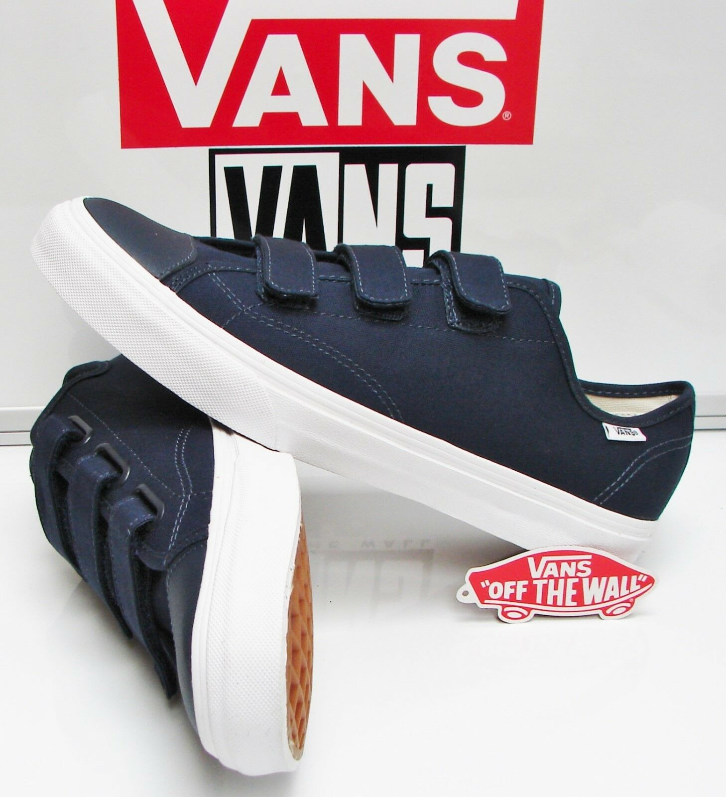 Style 23 (Canvas) Dress Blue /True White VN-0A38GCKO7 Men's Size: 11