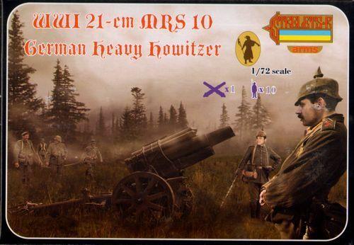 STRELETS A013 - WWI 21 CM Mrs 10 German Heavy Howitzer - 1:72