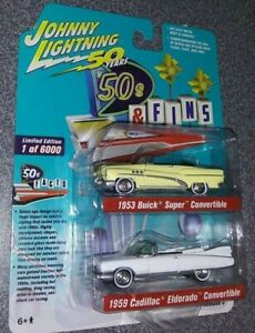 Johnny Lightning 50 Years Pack /'50s /& Fins /'53 Buick /& /'59 Cadillac NG143
