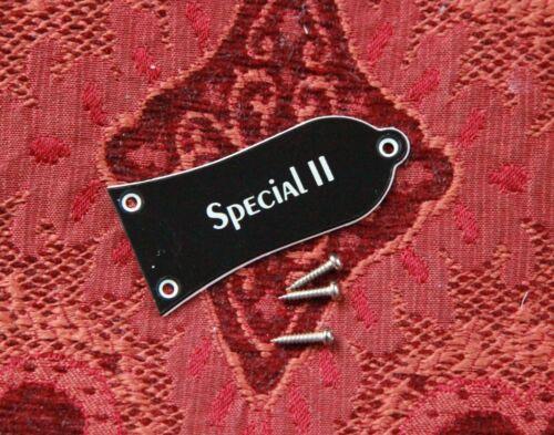 "TRUSS ROD COVER für EPIPHONE® LES PAUL®  /""SPECIAL II/"" REPLACE PG BLACK 3 SCREWS"