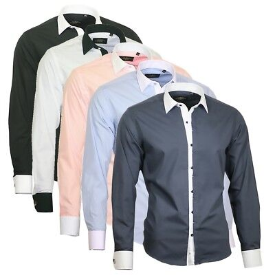 Binder de Luxe Herren Hemd Shirt Kentkragen Herrenhemd 82701 weiß