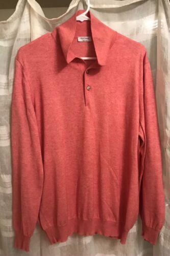 GRAN SASSO Cashmere/Cotton Mens (3) Button pullove
