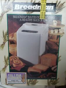 New Sealed Breadman Bread Maker Model TR-442 White NIB 2lb Loaves 8 cycle touch