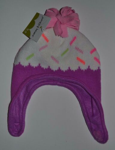 Jumping Beans Baby Cupcake Ice Cream Cone Hat Winter Fleece Lined Hat 0-6 mon
