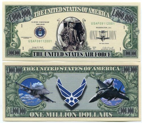 The United States of America Air Force One Million Dollars Novelty Note