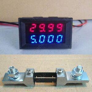 200V-200A-Shunt-DC-4-Digital-Voltmeter-Ammeter-LED-Amp-Volt-Meter-12v-auto-car