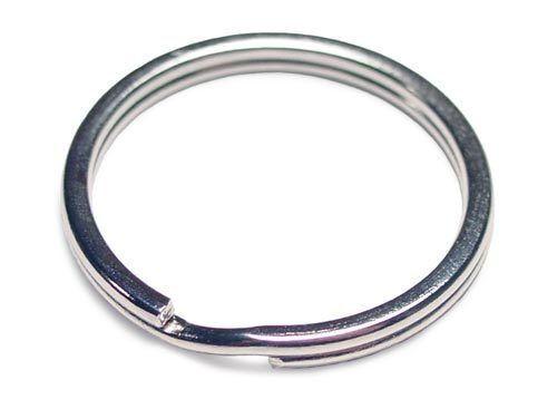 "WHOLESALE LOT 100 KEY RINGS 24mm 1/"" Split Ring GOLD"