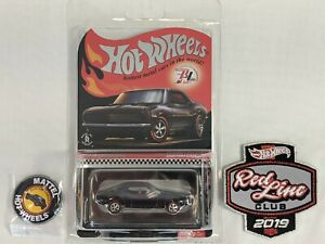 Hot Wheels 2019 Red Line Club RLC Membership Car Button Patch Custom Camaro