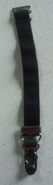 1 Halter Straps Links die Einheit Abnehmbar Elastisch Schwarz Kabelbinder Metall