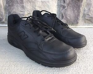 New-Balance-MW812BK-Lace-Up-Walking-Black-Leather-Oxfords-Sneakers-SZ-US-11-5-D