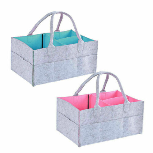 Baby Diaper Organizer Caddy Changing Nappy Storage Carrier Bag Large Pocket UK