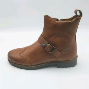 Boots-Stiefeletten-Motorrad-Verstaerkt-Leder-Zipper-Brown-Original-ROYAL-ENFIELD