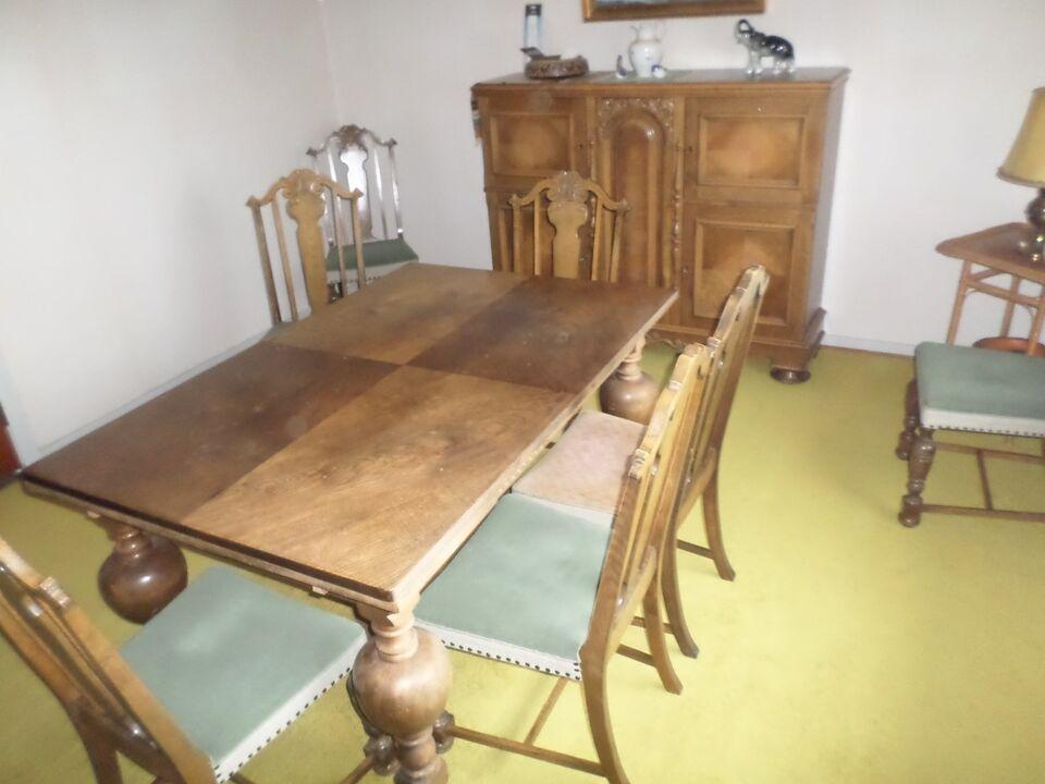 Spisebord m/stole, træ