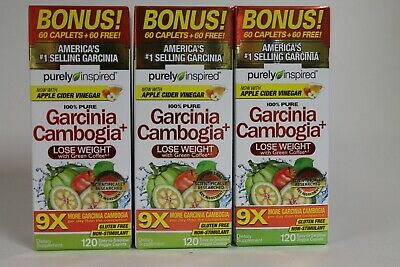 3bx X 120 Purely Inspired Hca Garcinia Cambogia Green Coffee Apple