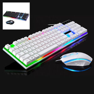 Keyboard Mouse Combo For PS4//PS3//Xbox One Gaming Rainbow LED Keyboard Mice LOT
