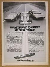 1983 Ferrari 308 Mondial & F1 cars photo KONI Shocks vintage print Ad
