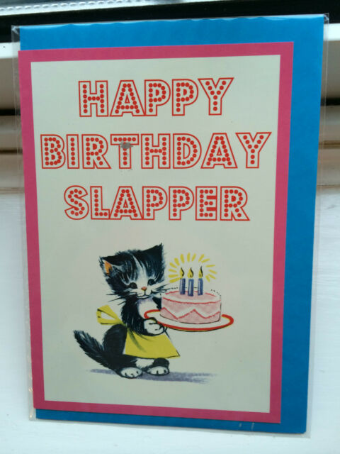 Happy Birthday Slapper Very Rude Fun Adult Humour Greetings Card