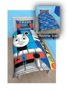 Thomas The Tank Engine 'Team' Reversible Panel Single Bed Duvet ... : thomas single bed quilt cover - Adamdwight.com