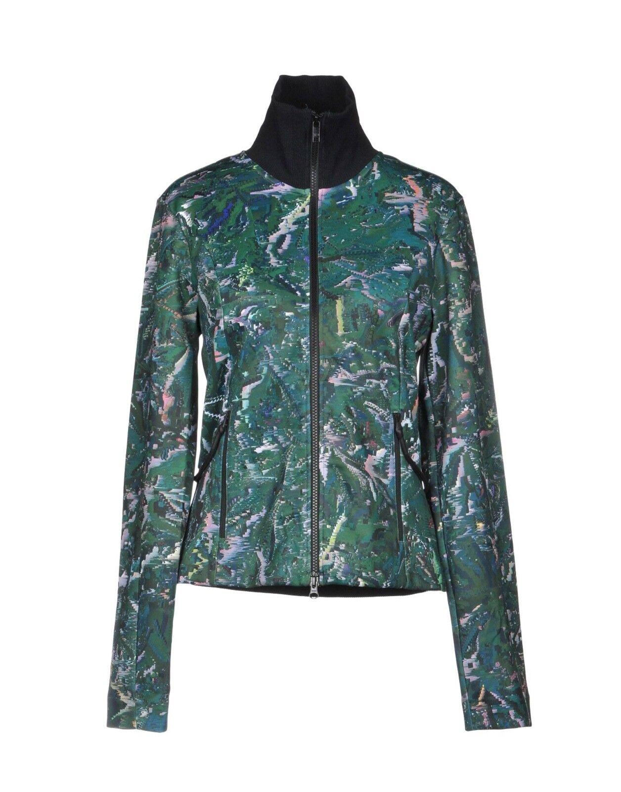 Y-3 Yohji Yamamoto Woherren Turtleneck Stretch Sweatshirt Grün Abstract Größe M