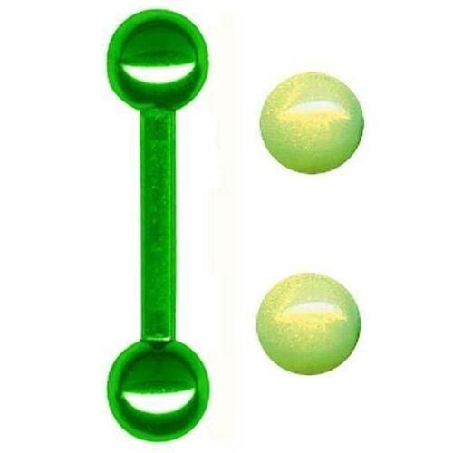 12G 1//2 Bonus Balls Titanium Barbell Body Jewelry
