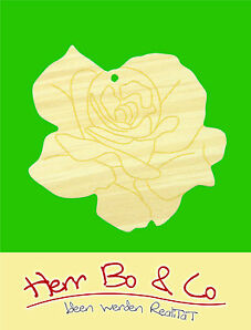 2x Rosenblüte Holz Anhänger Basteln Malen Dekoration