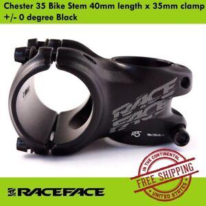 Race Face Chester 35 MTB Mountain Stem 40mm length x 35mm clamp 0 degree Black