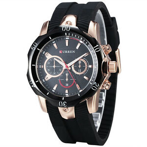 stylish curren rubber band s watches fashion quartz