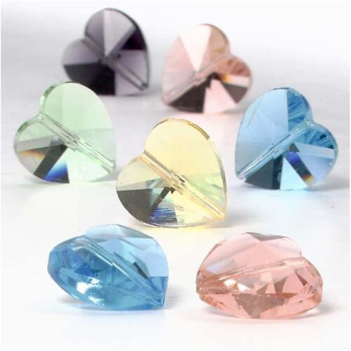 Verre cristal perles 30 S taille 14 mm Valentin rotatif 1 mm triée couleurs